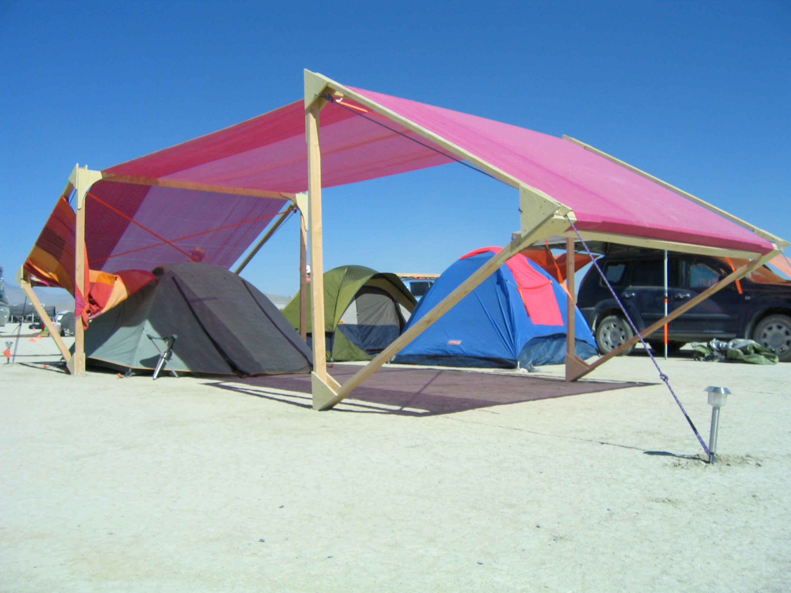 Diy shade options burningman for Sun shade structure